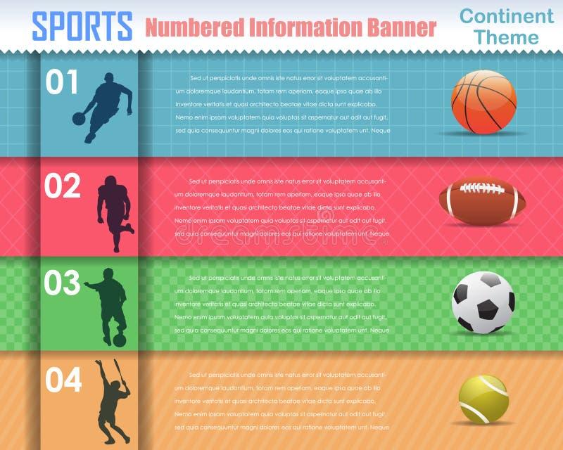 Disegno numerato di vettore dell'insegna di sport di informazioni royalty illustrazione gratis
