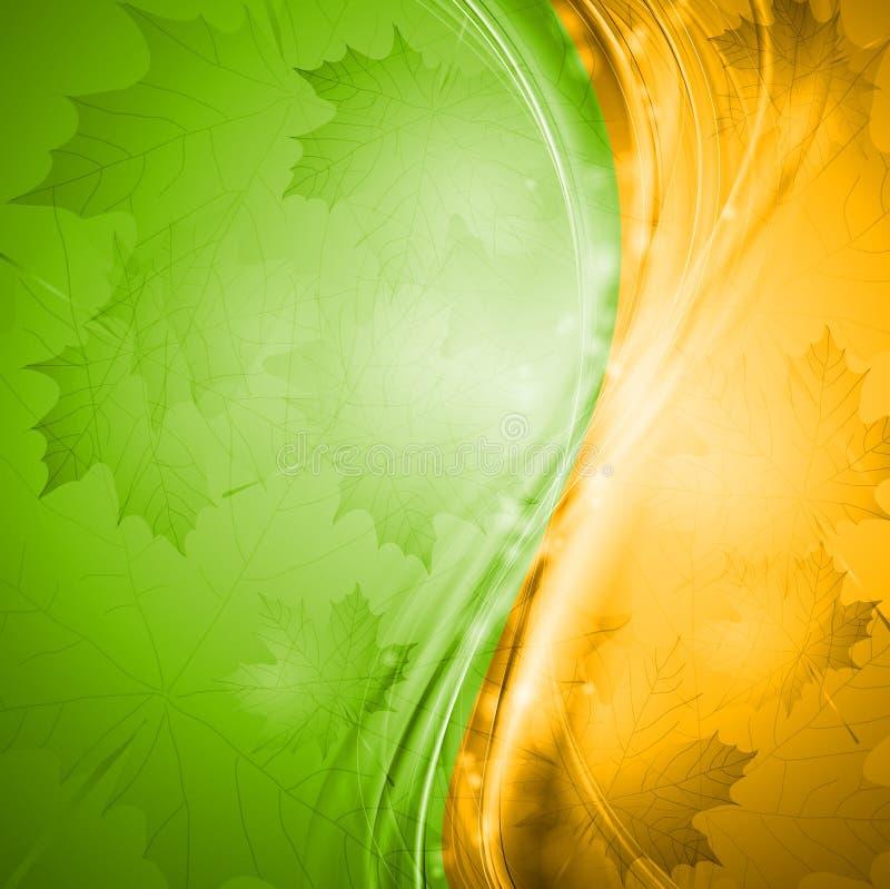 Disegno ondulato luminoso di autunno illustrazione vettoriale