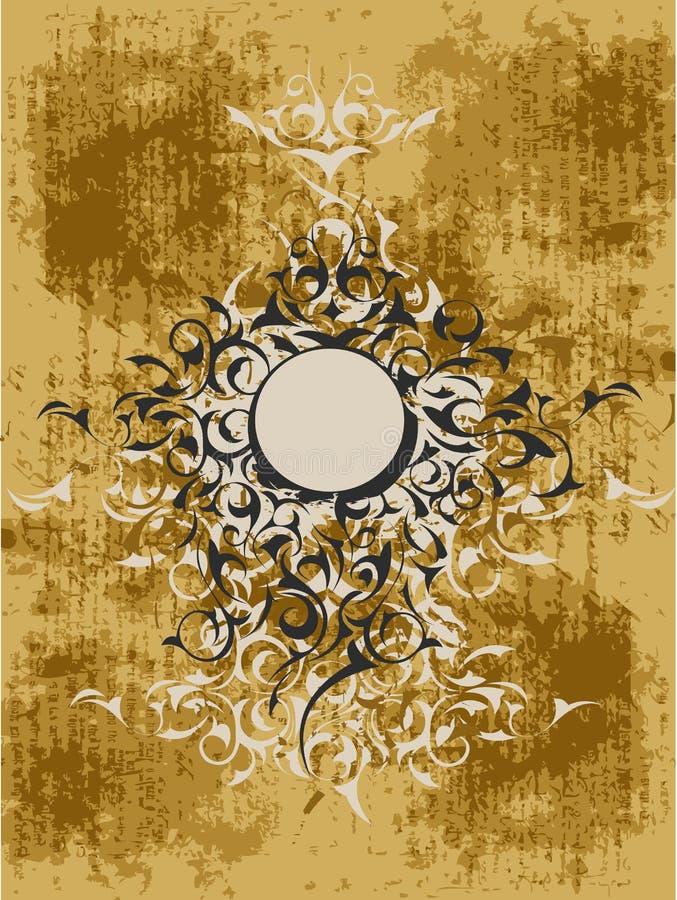 Disegno ornamentale del grunge royalty illustrazione gratis