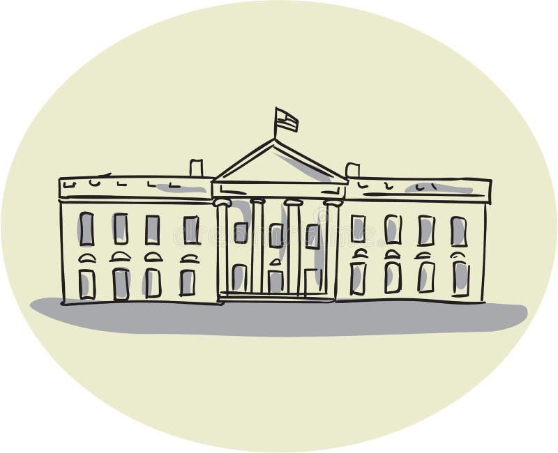 Disegno ovale della costruzione della casa bianca for Schizzo di piani di casa gratuiti