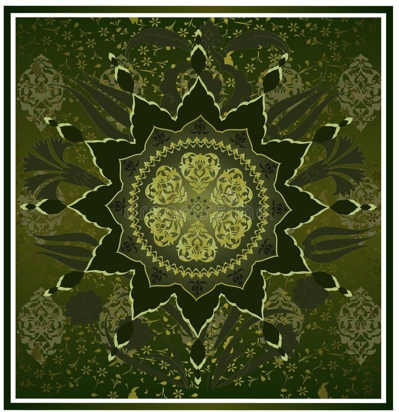 Disegno pulito dell'ottomano tradizionale illustrazione vettoriale