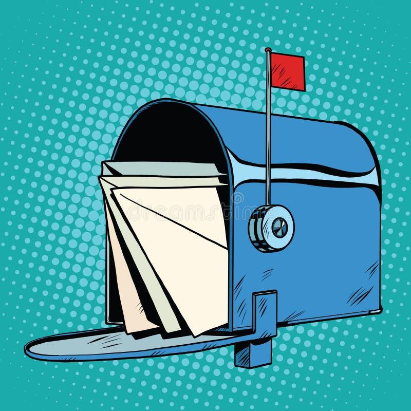 Disegno realistico della retro cassetta della posta royalty illustrazione gratis