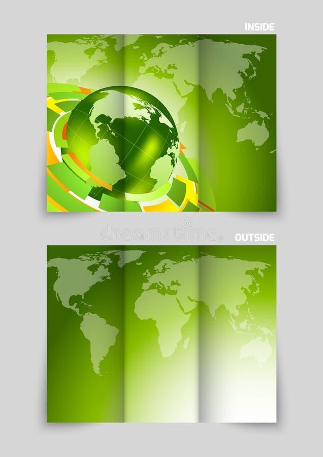 Disegno ripiegabile dell'opuscolo illustrazione vettoriale