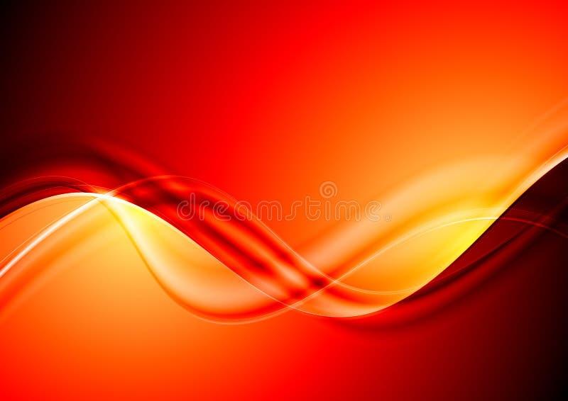 Disegno rosso astratto delle onde illustrazione di stock