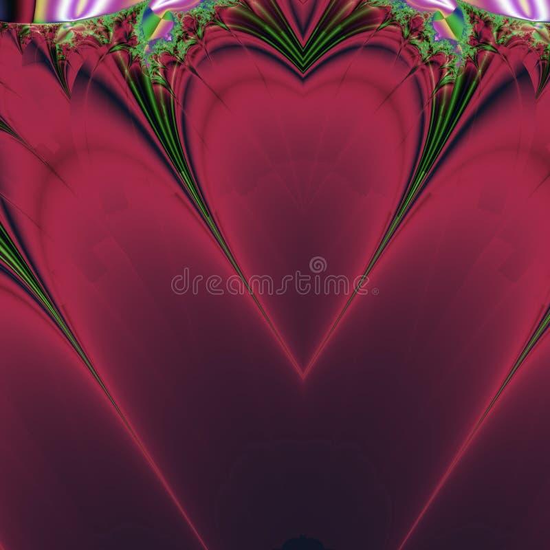 Disegno rosso dei biglietti di S. Valentino del cuore illustrazione vettoriale