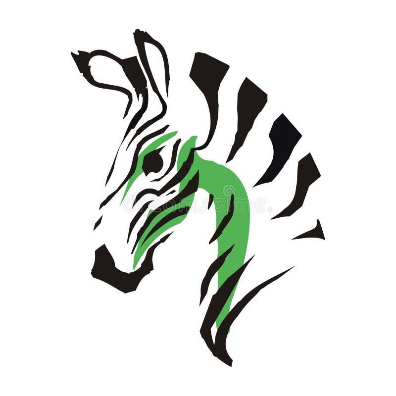 Disegno schematico della zebra immagini stock libere da diritti