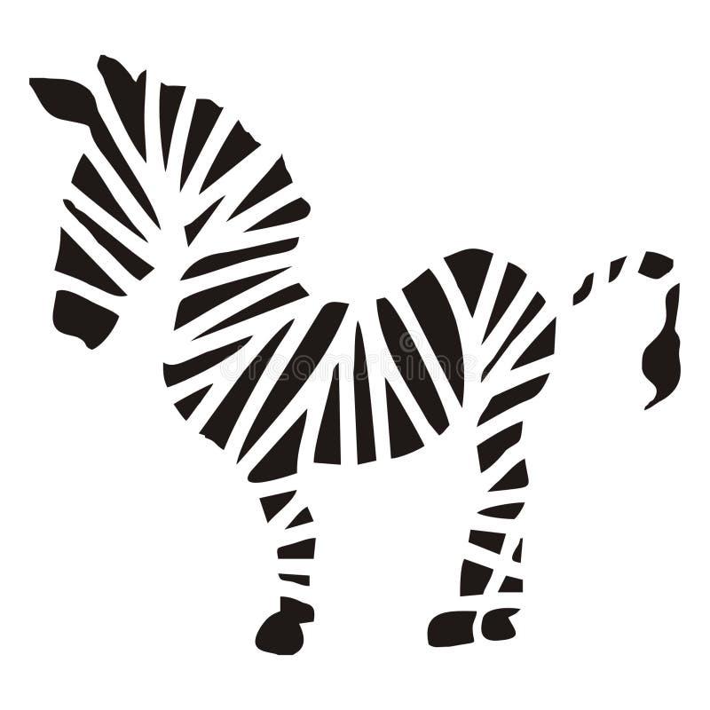Disegno schematico della zebra illustrazione vettoriale