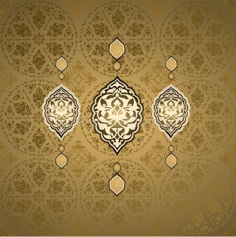 Disegno senza giunte turco dell'ottomano tradizionale illustrazione di stock