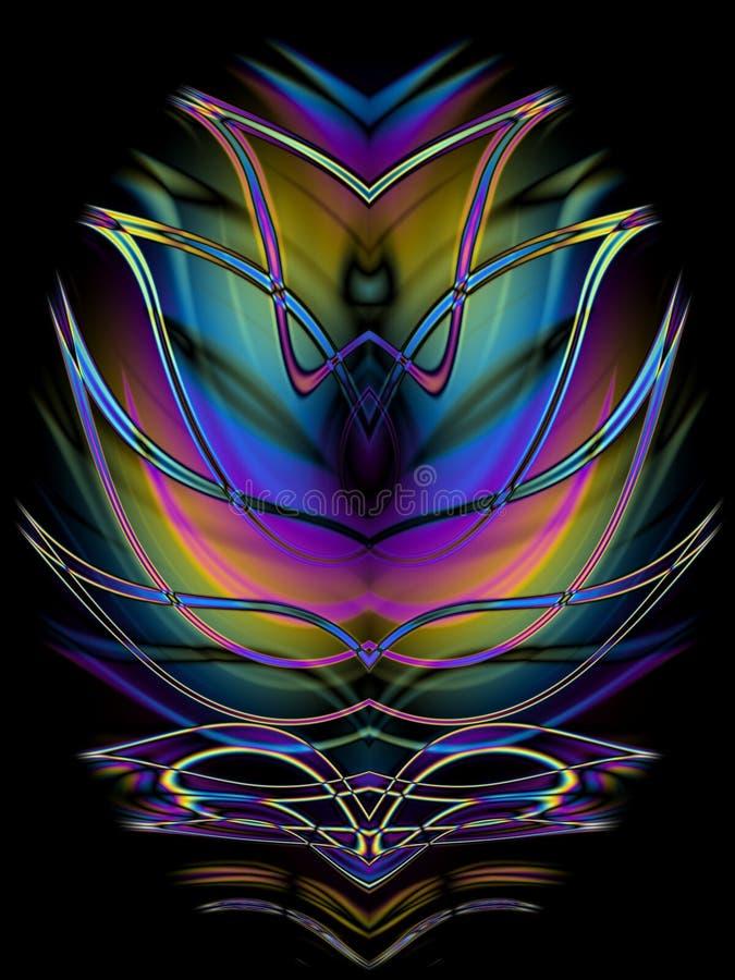 Disegno simmetrico decorativo   illustrazione vettoriale