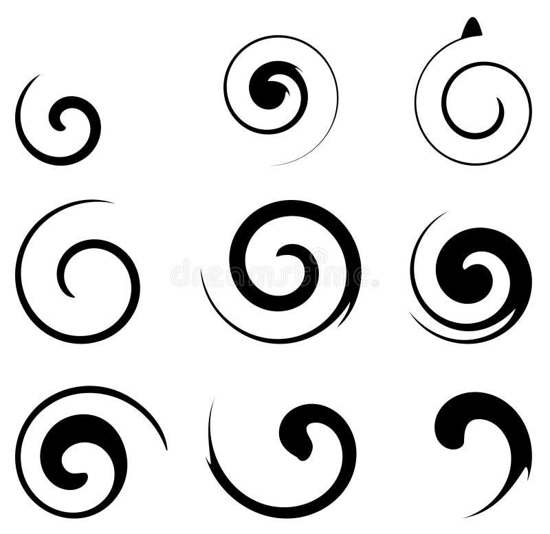 Disegno a spirale di figura royalty illustrazione gratis