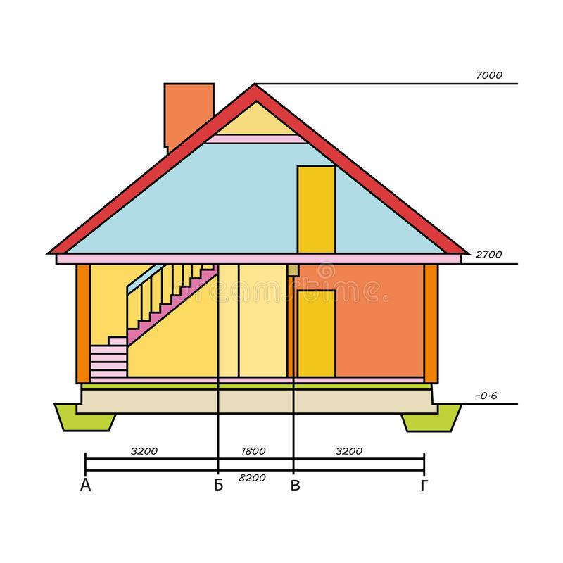 Disegno tecnico dell 39 icona della casa nello stile del for Disegno della casa di architettura
