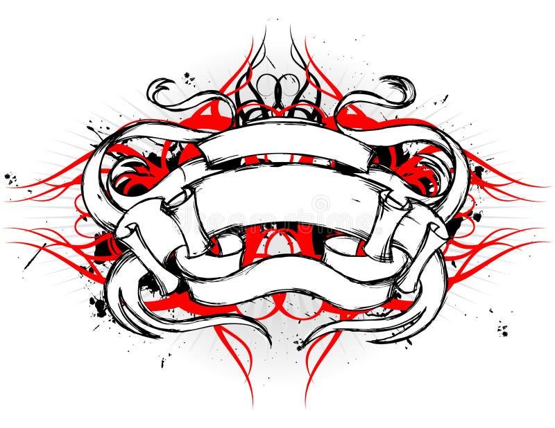 Disegno tribale del rotolo illustrazione vettoriale