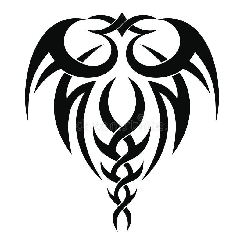 Disegno tribale del tatuaggio illustrazione vettoriale