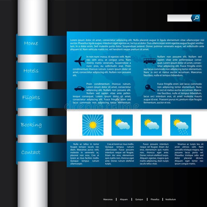 Disegno turistico di Web site illustrazione di stock
