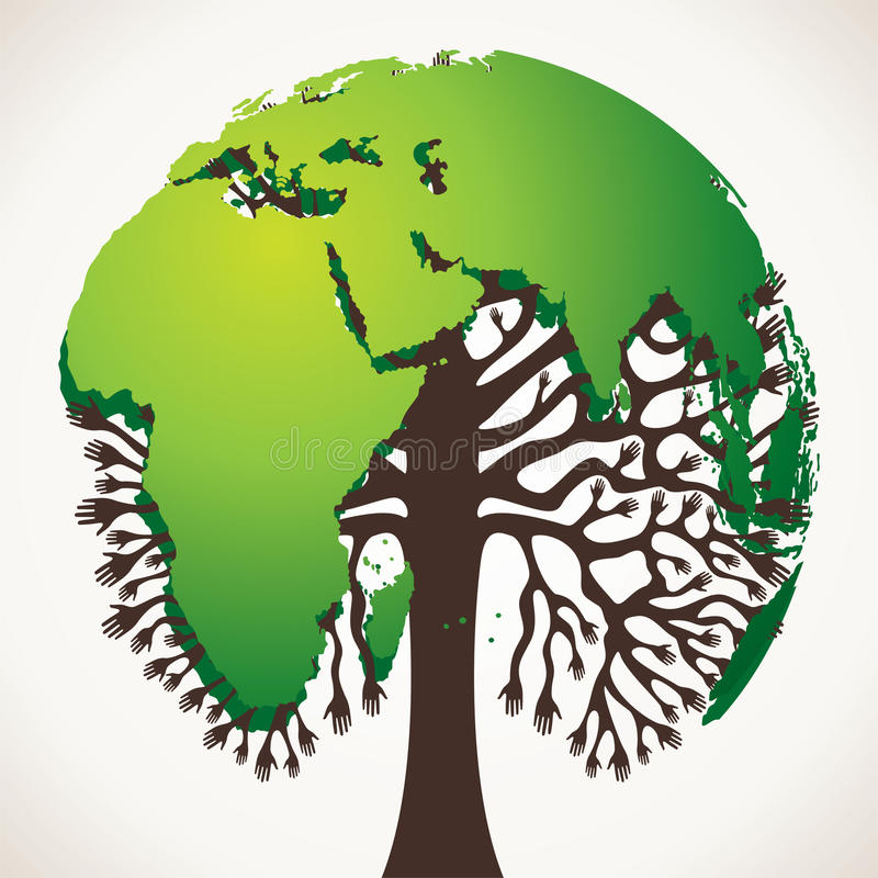 Disegno verde dell 39 albero con il programma di mondo for Il verde mondo