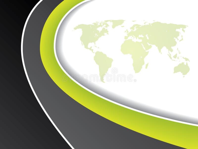 Disegno verde dell'opuscolo del programma illustrazione di stock