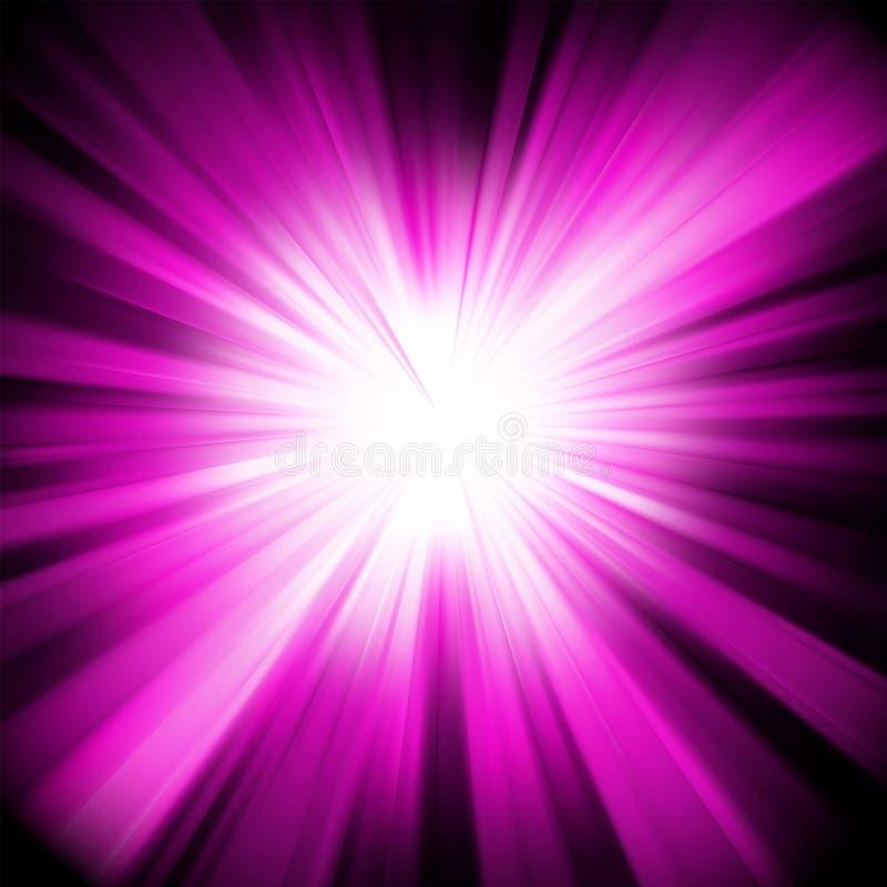 Disegno viola con un burst. ENV 8 illustrazione vettoriale