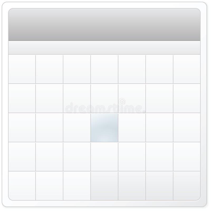 Disegno vuoto del calendario illustrazione vettoriale
