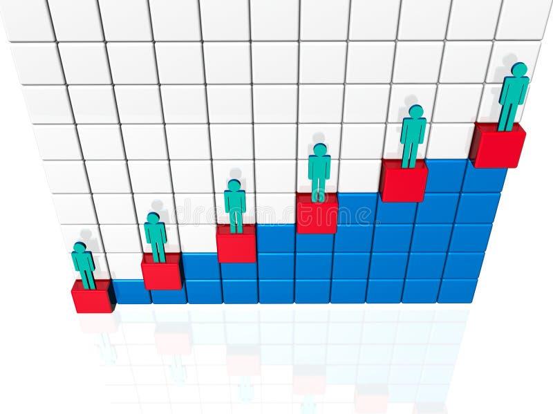 Diseguaglianza sociale illustrazione di stock
