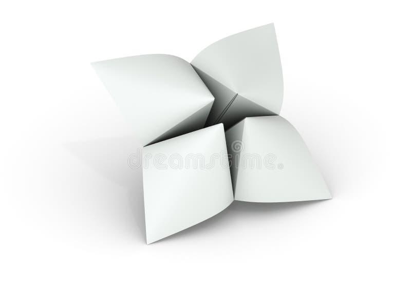 Diseur de bonne aventure de papier blanc illustration stock