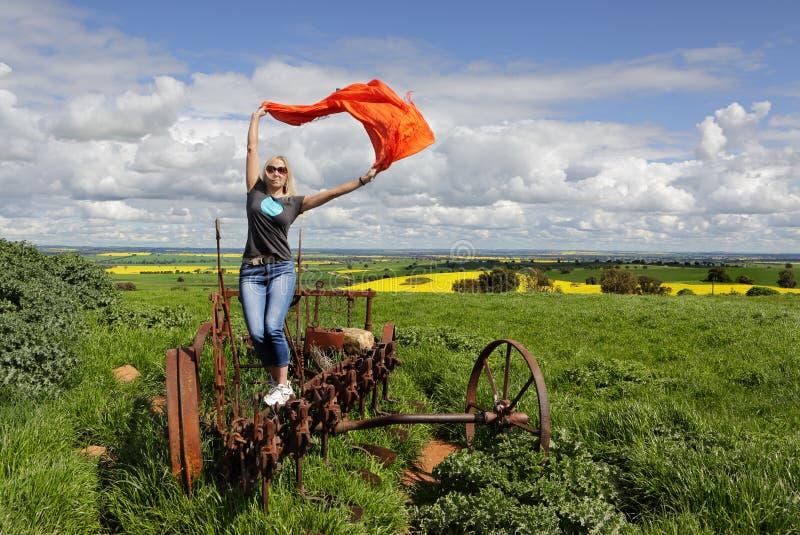 Disfrutar de vida en el campo en el interior Australia foto de archivo libre de regalías