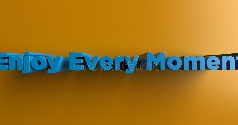 Disfrute de cada momento - ejemplo colorido rendido 3D del título stock de ilustración