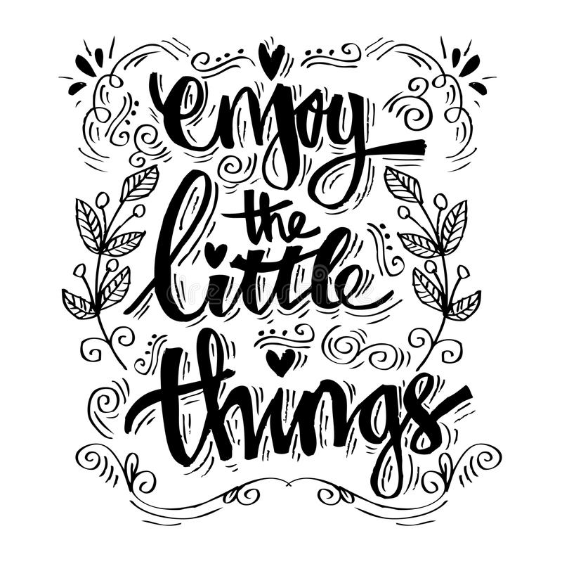 Disfrute de las pequeñas cosas libre illustration