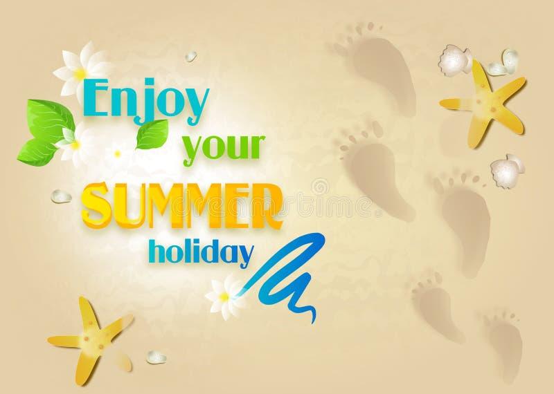 Disfrute de sus vacaciones de verano stock de ilustración