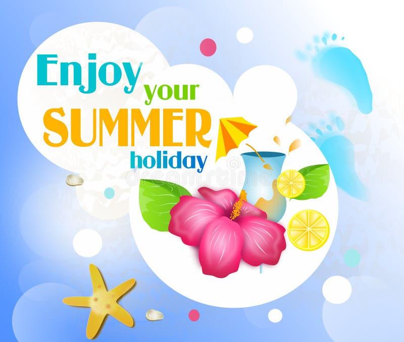 Disfrute de sus vacaciones de verano libre illustration