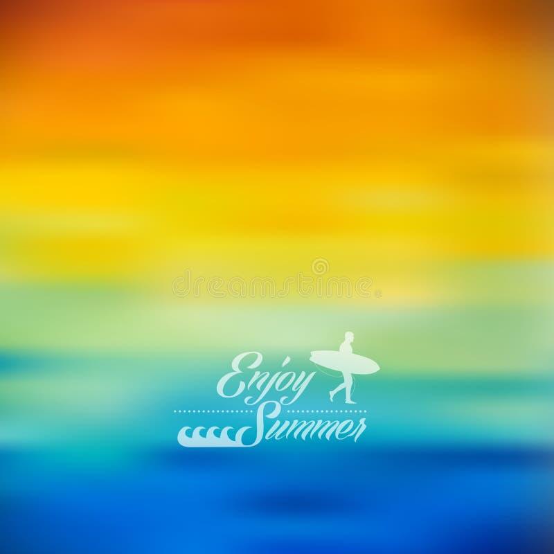 Disfrute del fondo borroso colorido del verano ilustración del vector