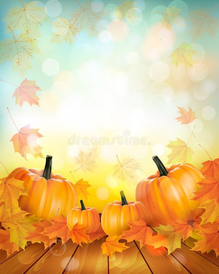 Disfrute del fondo de las ventas del otoño con las hojas coloridas stock de ilustración