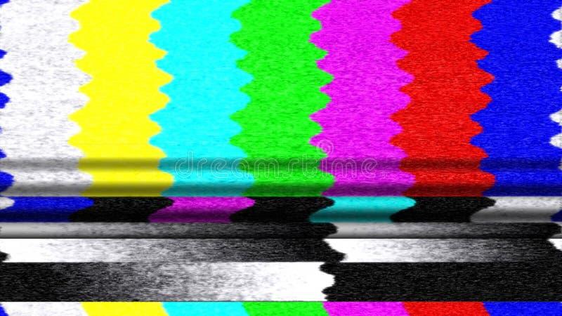 Disfunzione delle barre di colore della TV fotografie stock libere da diritti