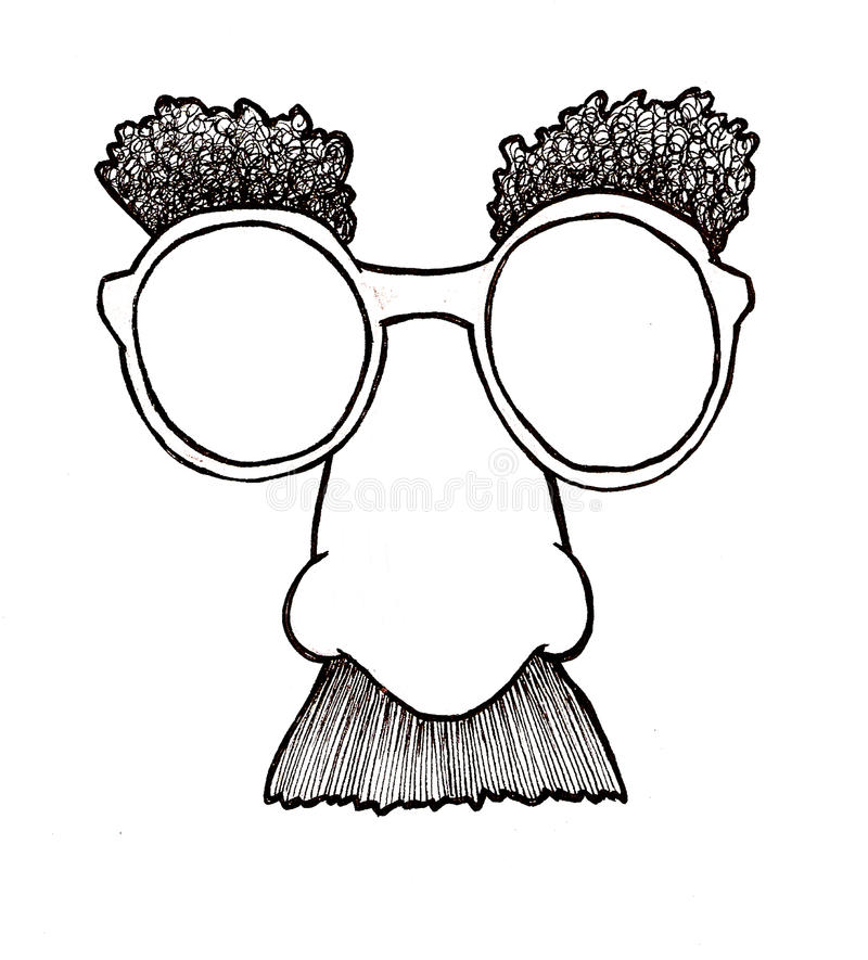 Download Disguise Mask stock vector. Illustration of eyebrow, glasses - 9741356