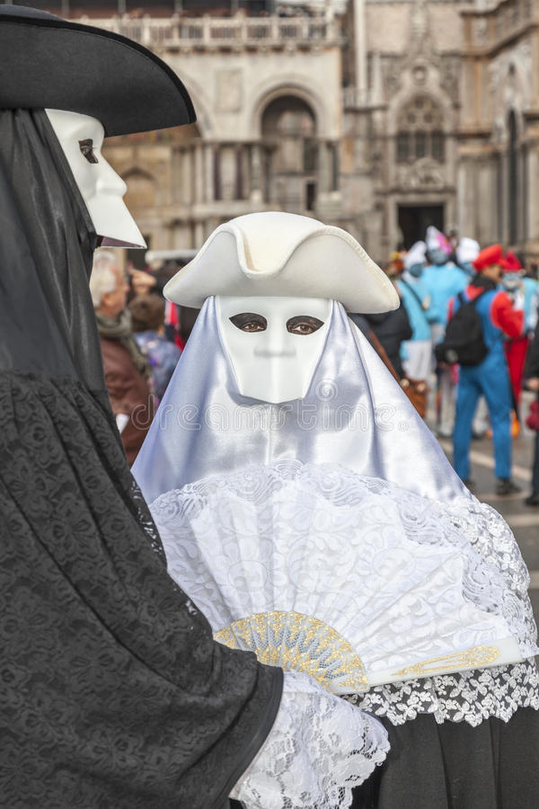 Disguised Couple - Venice Carnival 2014 royalty free stock images
