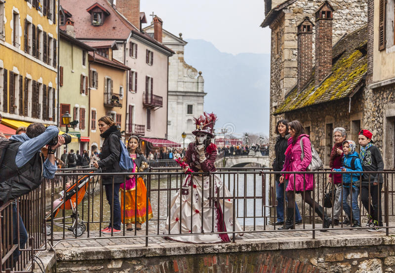 Download Disguised Person Posing On A Bridge Editorial Photography - Image: 39325817