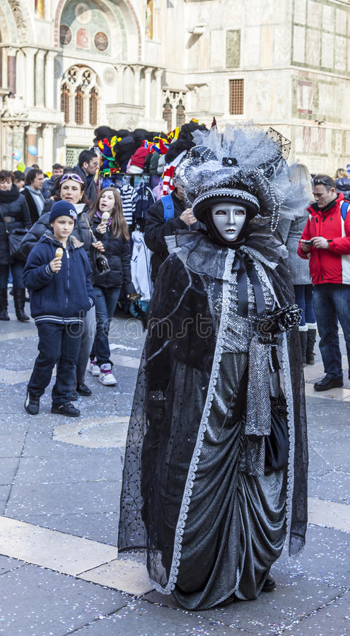 Disguised Person - Venice Carnival 2012 royalty free stock photos