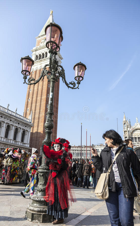Disguised Person - Venice Carnival 2012 stock images