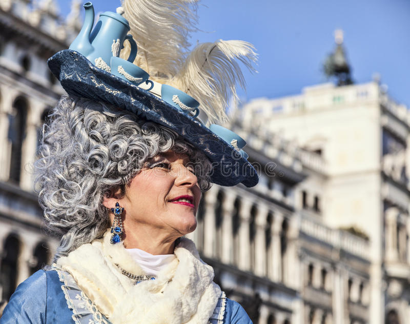 Disguised Woman royalty free stock photo