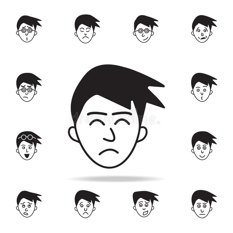 Disgust on the face icon. Detailed set of facial emotions icons. Premium graphic design. One of the collection icons for websites. Web design, mobile app on royalty free illustration