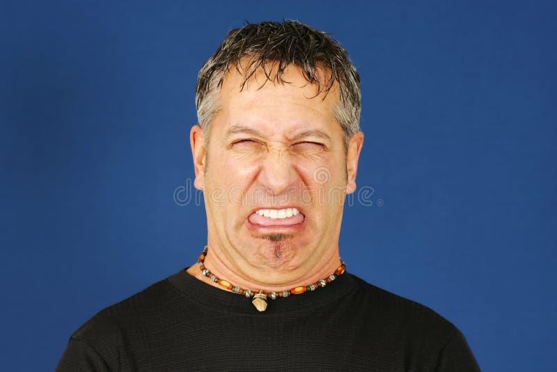 Disgusted человек стоковое фото rf