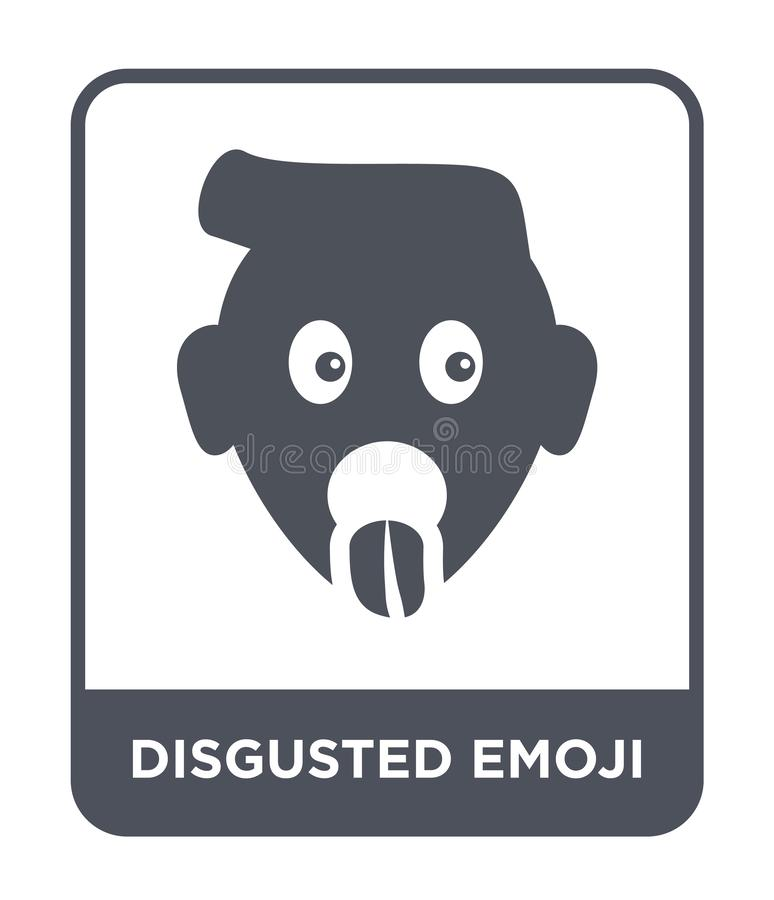 Disgusted emoji icon in trendy design style. disgusted emoji icon isolated on white background. disgusted emoji vector icon simple. And modern flat symbol for vector illustration