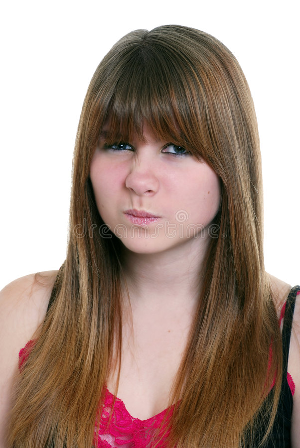 Disgusted female teenager royalty free stock photo