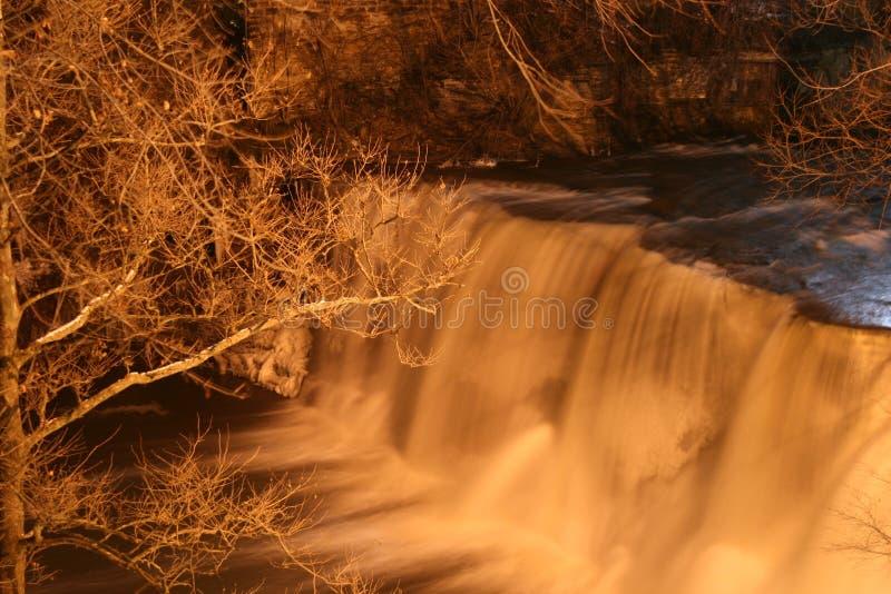 Disgusto - caídas en invierno fotos de archivo