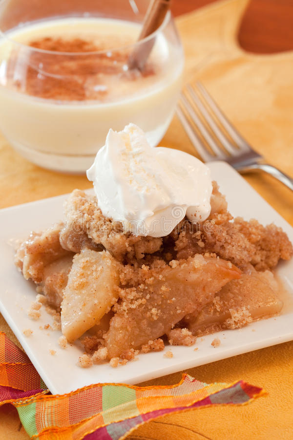 Download Dish Of Apple Crisp stock image. Image of crumble, baked - 21440895