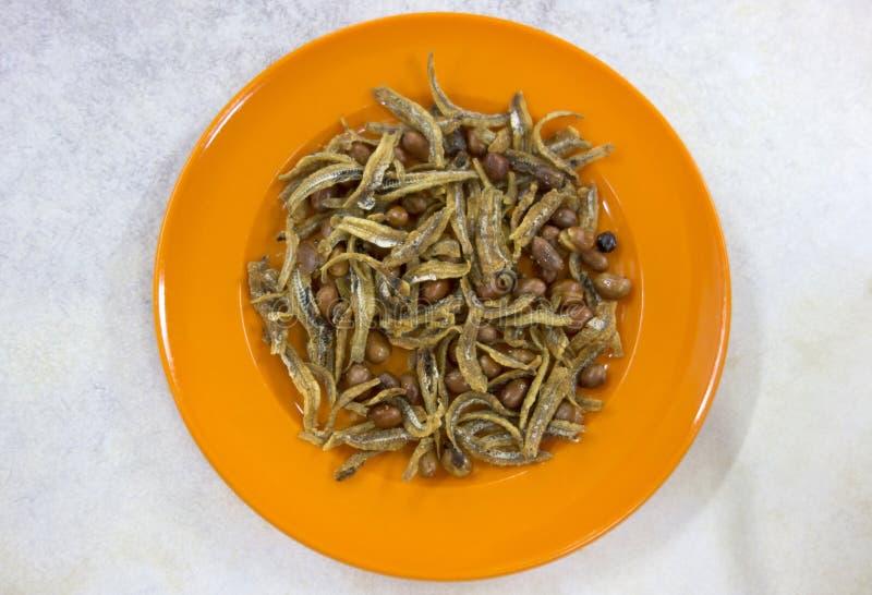 Dish of Asian Snacks stock photography