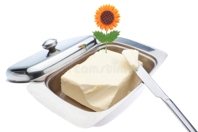 Download Dish Of Butter And Table Knife. Stock Photography - Image: 28360102