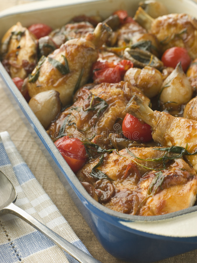 Dish of Chicken Chasseur royalty free stock photos