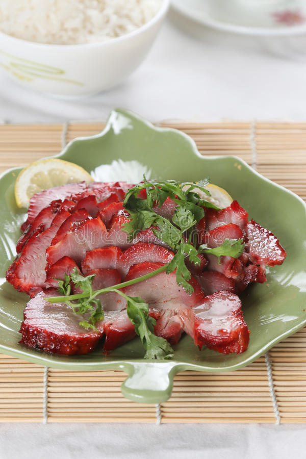 A dish of chinese roast pork royalty free stock image