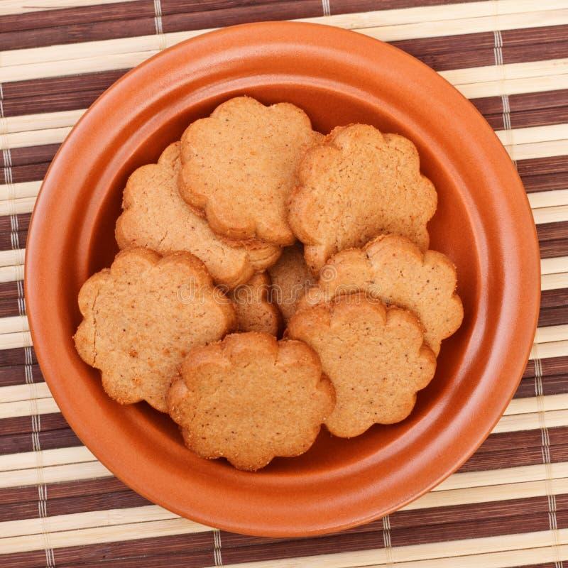 Dish of cinnamon cookies royalty free stock photo