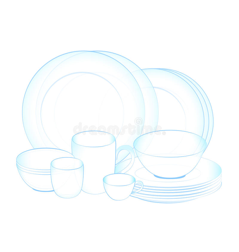 Dish clean. Pure dish clean on white background vector illustration